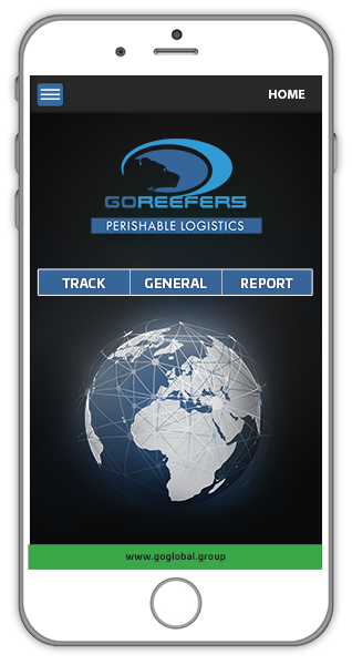 GoReefeers App on phone - online tracking software