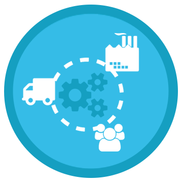 Multiple supply chain solutions per region icon